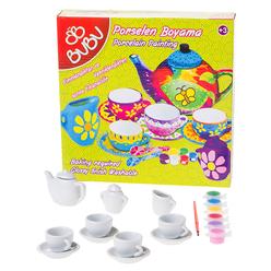 Bu-Bu Porselen Boyama Çay Seti 13 Parça PB0005 - Thumbnail