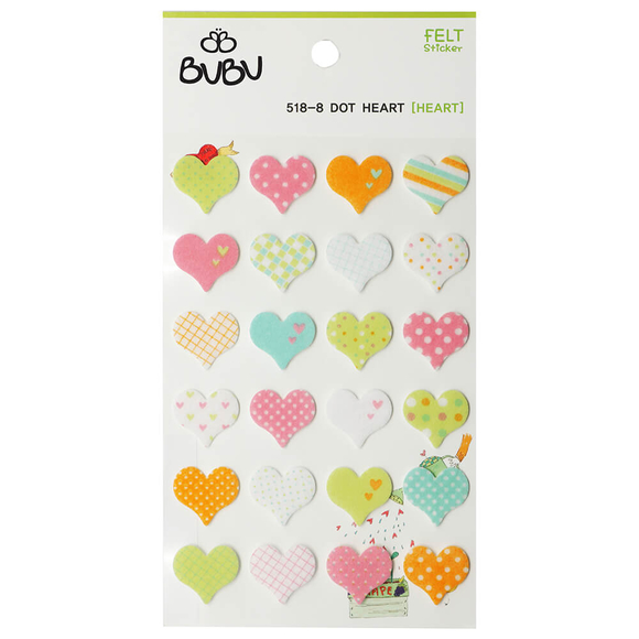 Bu-Bu Sticker Desenli Kalpler LS0021