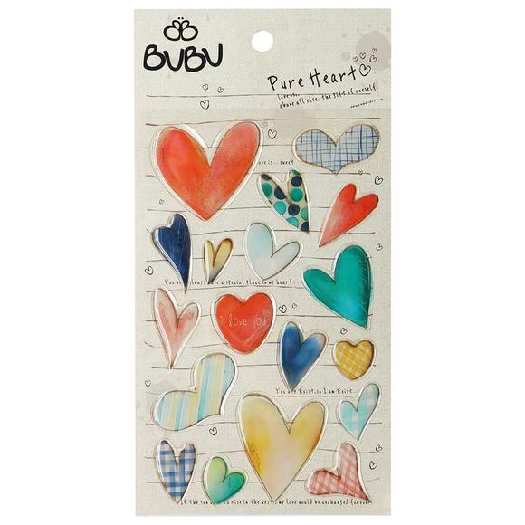 Bu-Bu Sticker Doğal Kalpler LS0012