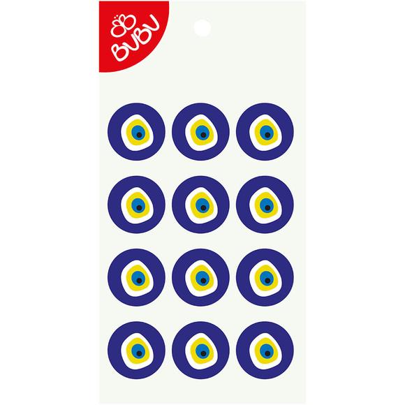 Bu-Bu Sticker Nazar Boncuğu 3 Cm LS0042