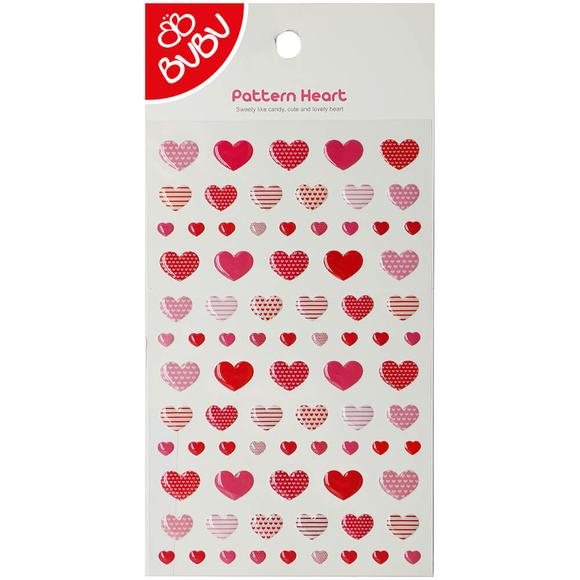 Bu-Bu Sticker Pembe Kalpler LS0009