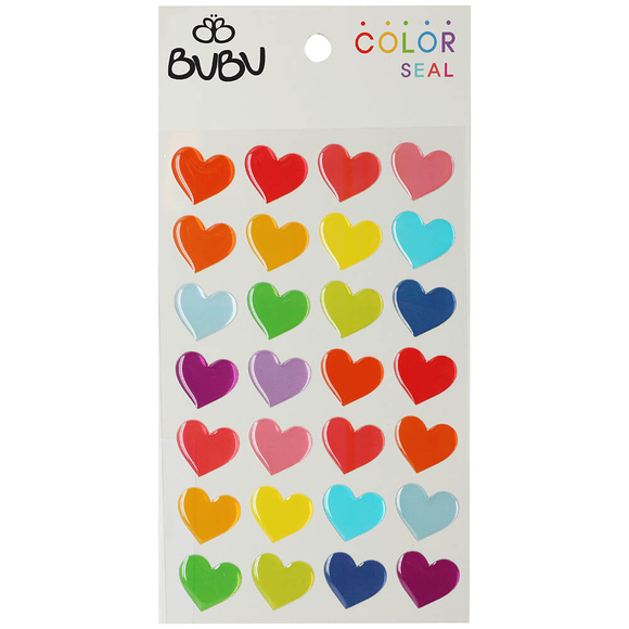 Bu-Bu Sticker Renkli Kalpler Büyük LS0008