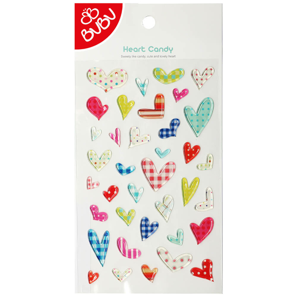 Bu-Bu Sticker Şeker Kalpler LS0011