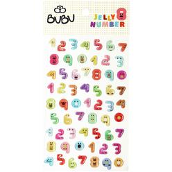 Bu-Bu Sticker Tombul Jel Rakamlar LS0017 - Thumbnail