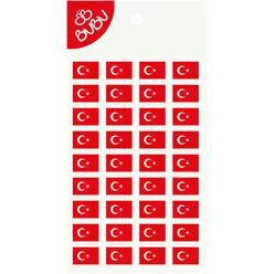 Bu-Bu Sticker Türk Bayrağı Dikdörtgen LS0039 - Thumbnail
