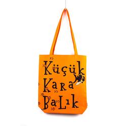 Can Dükkan Küçük Kara Balık Bez Çanta Turuncu KKB302 - Thumbnail