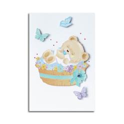 Card Group Tebrik Kartı Baby Boy Bear 10083 - Thumbnail