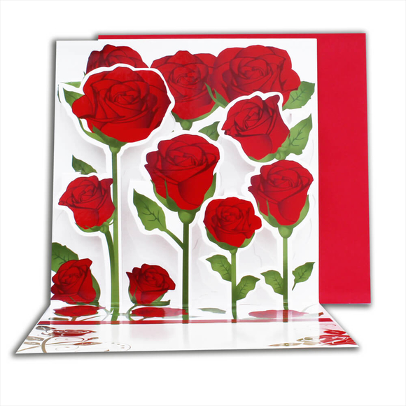 Card Group Tebrik Kartı Pop-Up Rose 23004