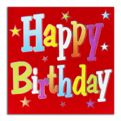 Card Group Tebrik Kartı Red Birthday 1839 - Thumbnail