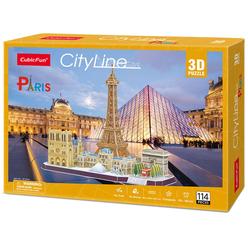 City Line Paris 3D Puzzle CUB/MC254H - Thumbnail