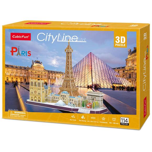 City Line Paris 3D Puzzle CUB/MC254H