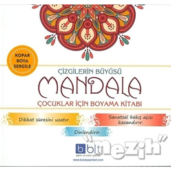 Çizgilerin Büyüsü - Mandala Çocuklar İçin Boyama Kitabı - Thumbnail