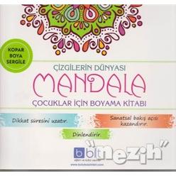 Çizgilerin Dünyası - Mandala Çocuklar İçin Boyama Kitabı - Thumbnail