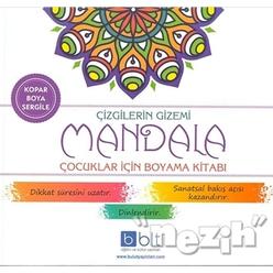 Çizgilerin Gizemi - Mandala Çocuklar İçin Boyama Kitabı - Thumbnail