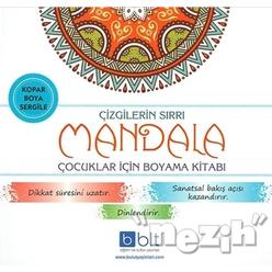 Çizgilerin Sırrı - Mandala Çocuklar İçin Boyama Kitabı - Thumbnail