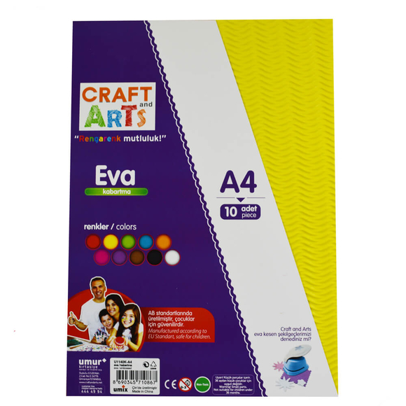 Craft and Arts A4 Kabartmalı Eva 10'lu U1140K