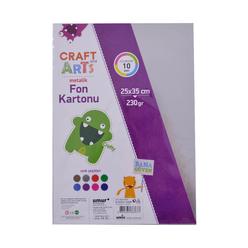 Craft and Arts Metalik Fon Kartonu 25x35 cm 10'lu - Thumbnail
