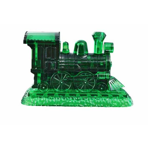 Crystal Puzzle 3D Buharlı Lokomotif Yeşil 38 Parça 90244