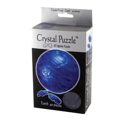 Crystal Puzzle 3D Dünya Mavi 40 Parça 90110 - Thumbnail