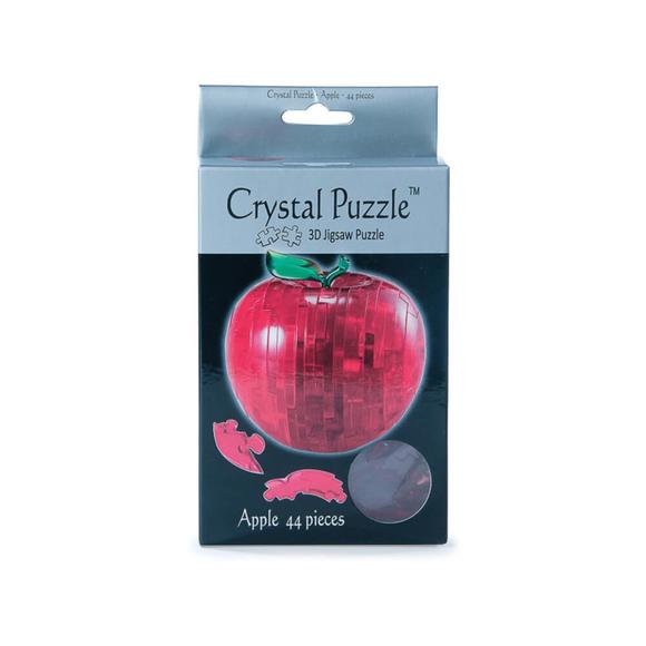 Crystal Puzzle 3D Elma Kırmızı 44 Parça 90005