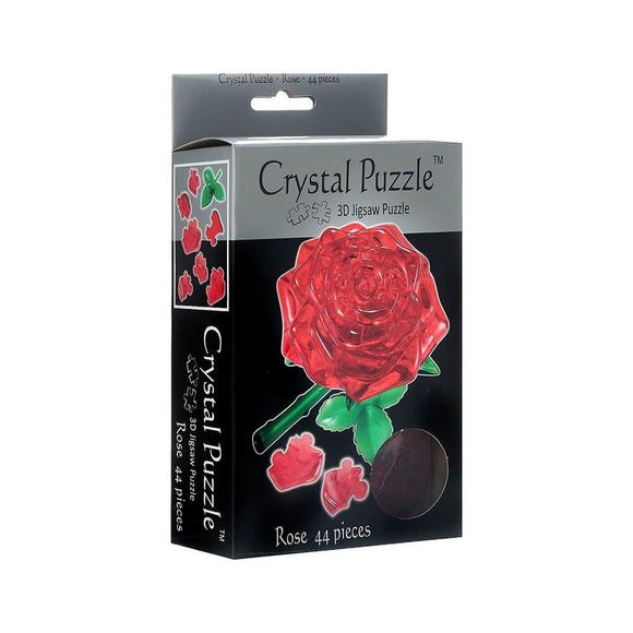 Crystal Puzzle 3D Gül Kırmızı 44 Parça 90113
