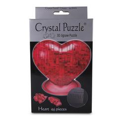 Crystal Puzzle 3D Kalp Kırmızı 46 Parça 90012 - Thumbnail