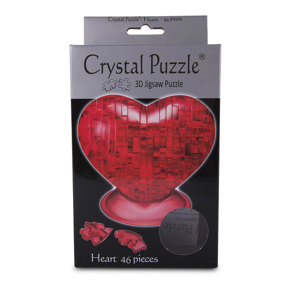Crystal Puzzle 3D Kalp Kırmızı 46 Parça 90012