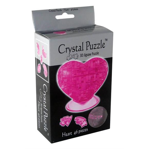 Crystal Puzzle 3D Kalp Pembe 46 Parça 90002
