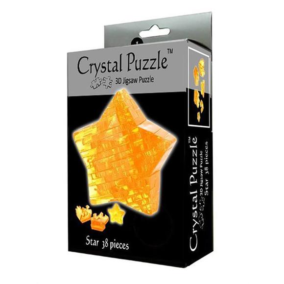 Crystal Puzzle 3D Yıldız Sarı 38 Parça 90008