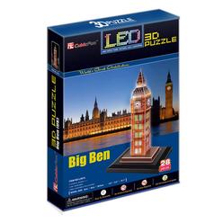 Cubic Fun 3D Puzzle Big Ben İngiltere Led Işıklı - Thumbnail