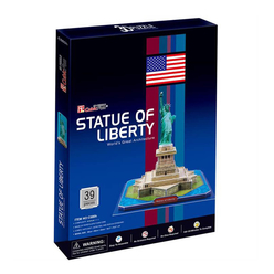 Cubic Fun 3D Puzzle Özgürlük Anıtı ABD C080H - Thumbnail