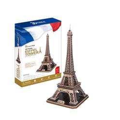 Cubicfun 3D Puzzle Eyfel Kulesi Fransa MC091H - Thumbnail