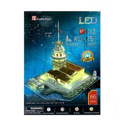 CubicFun 3D Puzzle Kız Kulesi Led Işıklı L181H - Thumbnail