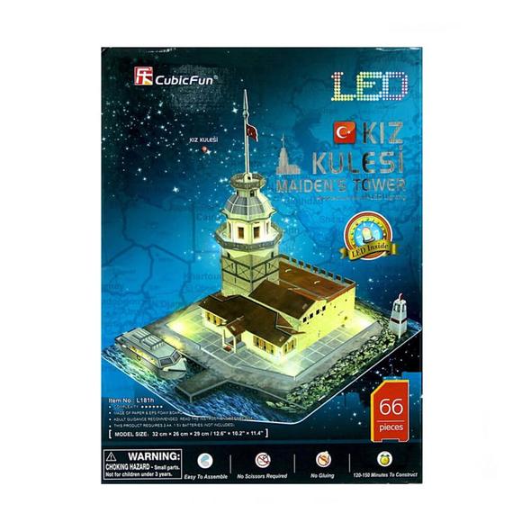 CubicFun 3D Puzzle Kız Kulesi Led Işıklı L181H