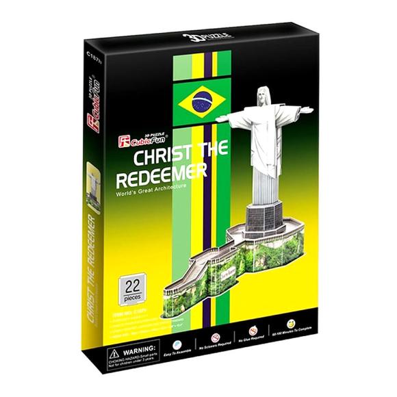 CubicFun 3D Puzzle Kurtarıcı İsa Heykeli Brezilya C187H