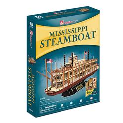 CubicFun 3D Puzzle Mississippi Steamboat T4026H - Thumbnail