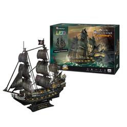 CubicFun 3D Puzzle Queen Anne's Revenge Gemisi Led Işıklı L520H - Thumbnail