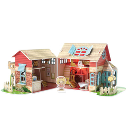 CubicFun 3D Puzzle Sevimli Villa P615H - Thumbnail