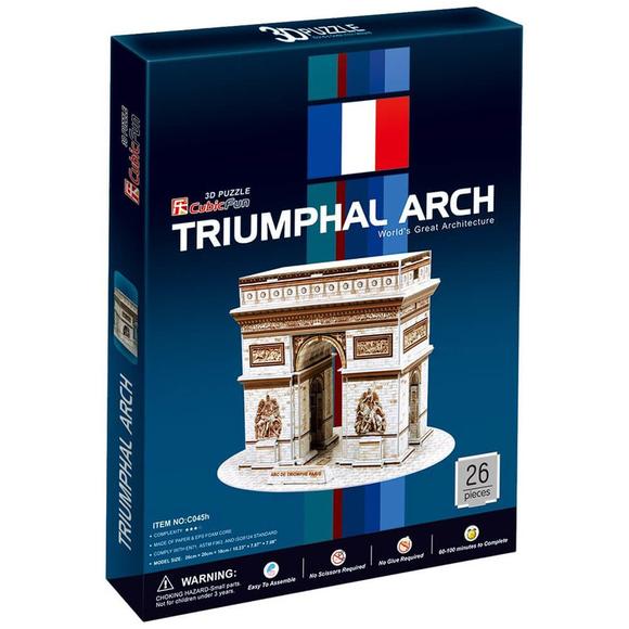 CubicFun 3D Puzzle Trıumphal Arch Fransa C045H