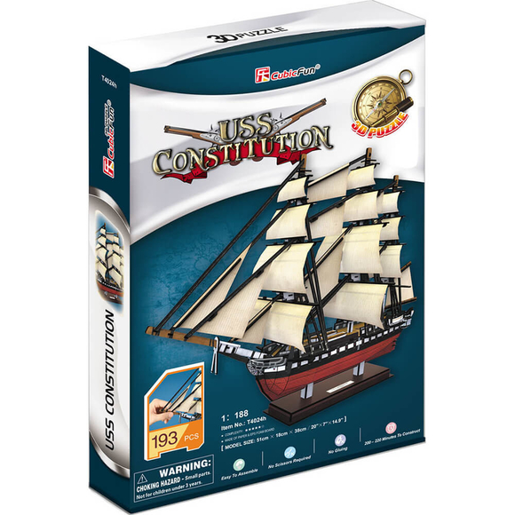 CubicFun 3D Puzzle Uss Constitution Gemisi T4024H