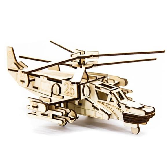 D3D Ahşap Puzzle Helicopter Hokum-A