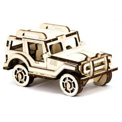 D3D Ahşap Puzzle Jeep - Thumbnail