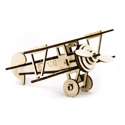 D3D Ahşap Puzzle Nieuport Aircraft - Thumbnail