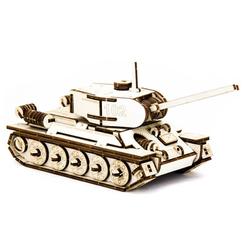 D3D Ahşap Puzzle Tank T-34 - Thumbnail