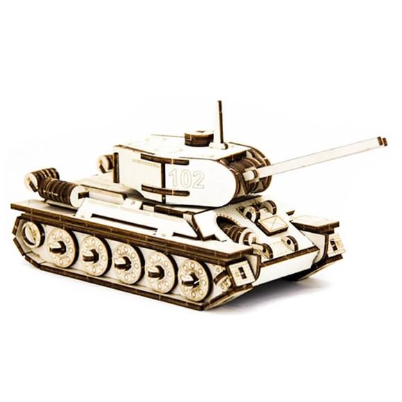 D3D Ahşap Puzzle Tank T-34