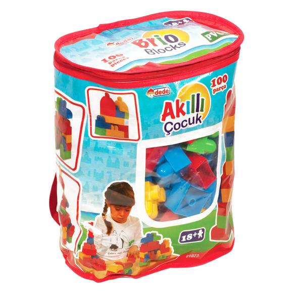 Dede Akıllı Çocuk Yapı Blokları 100 Parça 1023