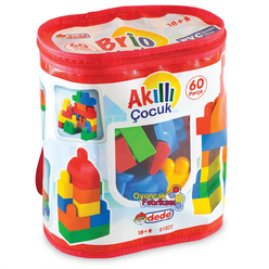 Dede Akıllı Çocuk Yapı Blokları 60 Parça 01022 - Thumbnail
