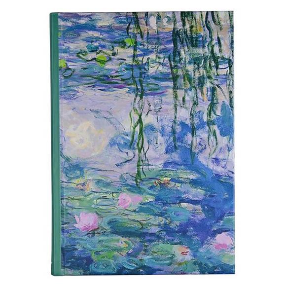 Deffter Art Of World Monet Sert Kapak 14x20 cm Çizgili Defter 96 Yaprak 64684-4