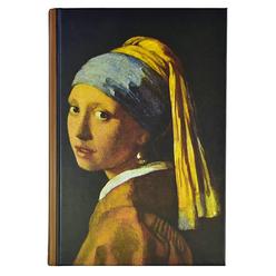 Deffter Art Of World Wermeer Sert Kapak 14x20 cm Çizgili Defter 96 Yaprak 64685-1 - Thumbnail