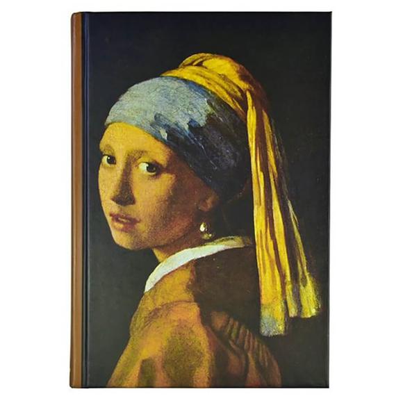 Deffter Art Of World Wermeer Sert Kapak 14x20 cm Çizgili Defter 96 Yaprak 64685-1